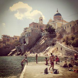 Syros - Baignade, Océan - 3 îles grecques - Destination, Grèce