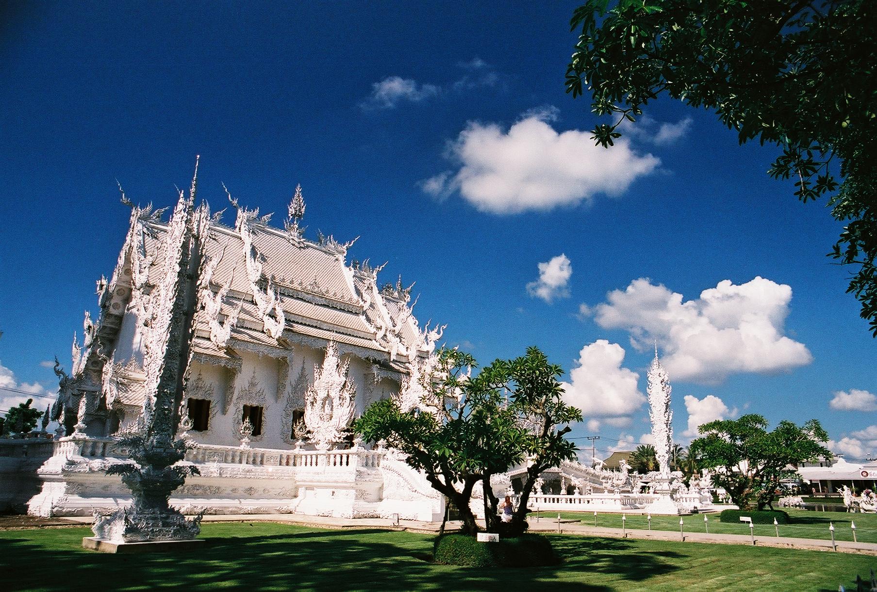 Le temple blanc - thailande, asie, a-faire
