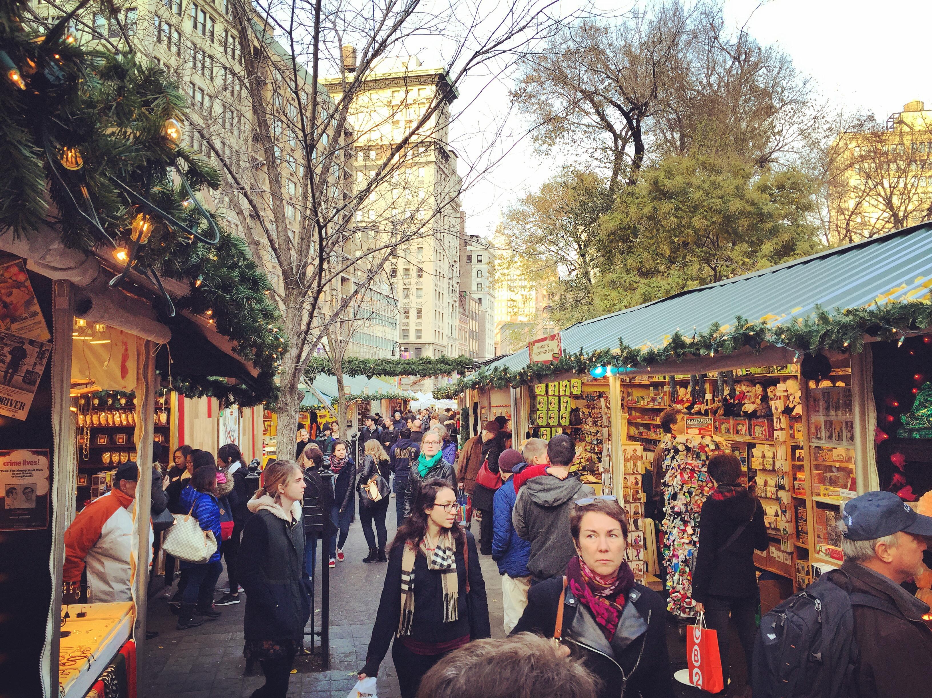 Marché de Noël à New York - new-york, etats-unis, amerique-du-nord, a-faire