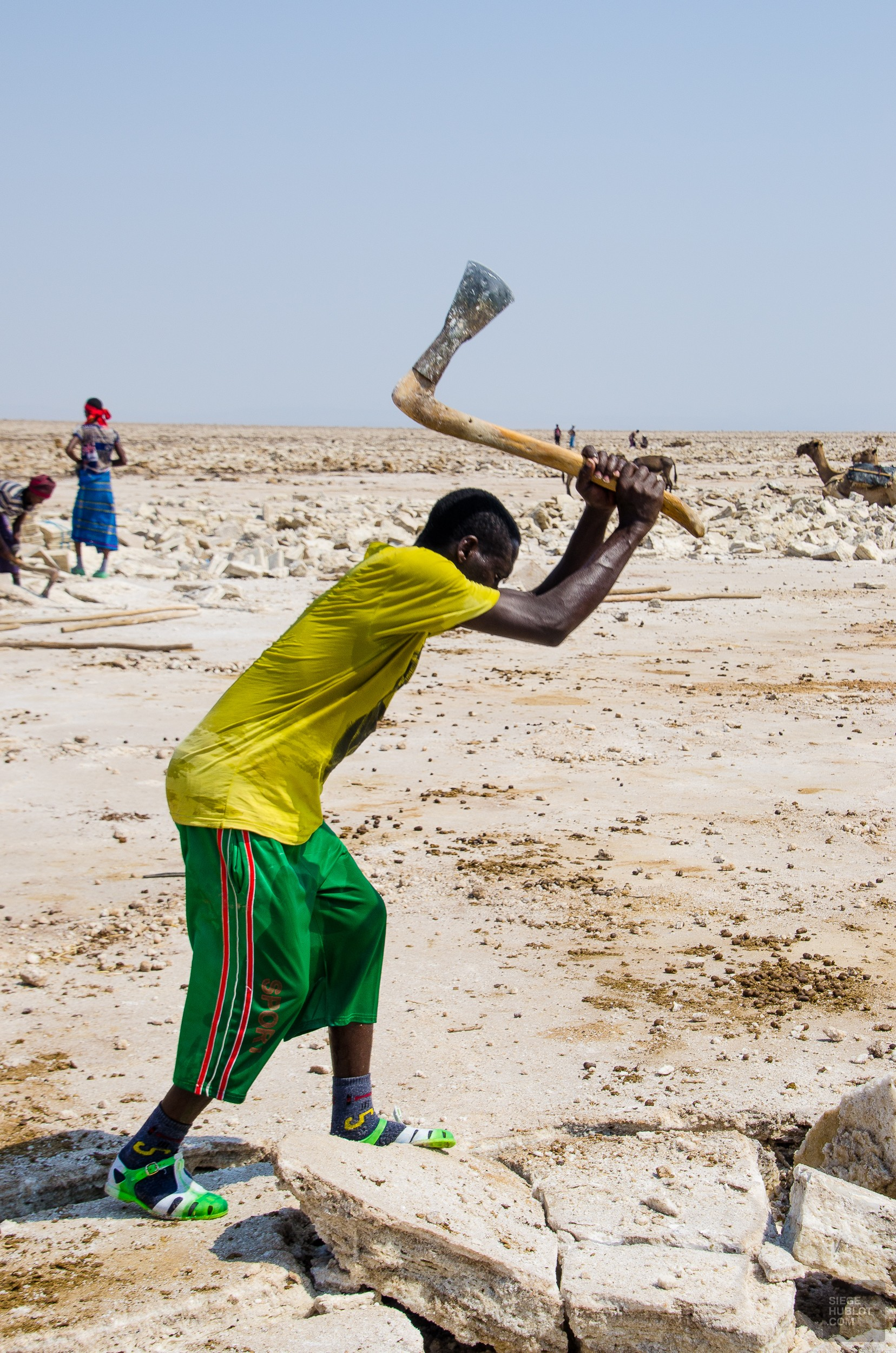 briser sel - Desert de sel - Visiter une autre planete: Danakil, Ethiopie - afrique, ethiopie