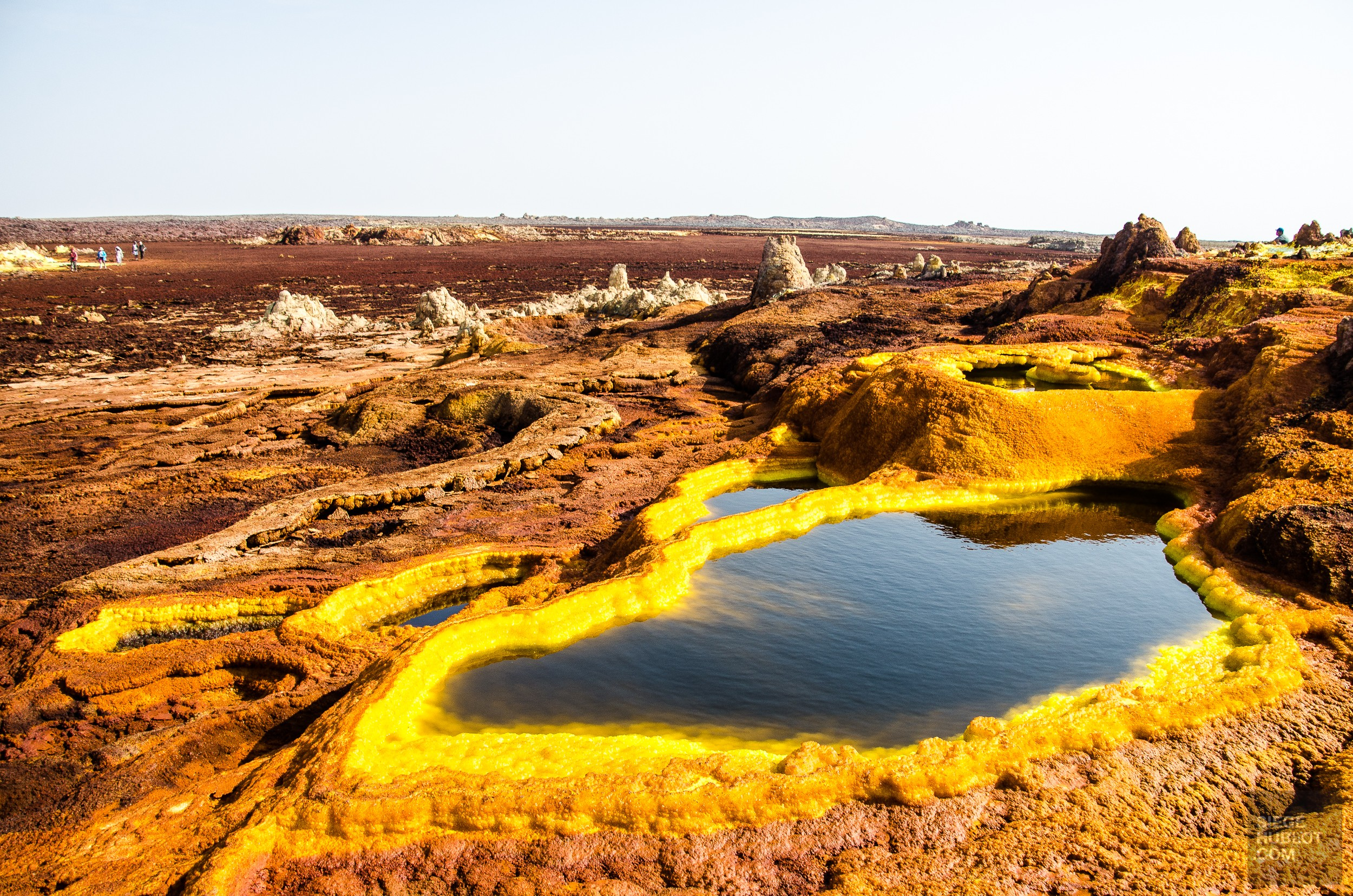 etang acide sulfurique - Dallol - Visiter une autre planete: Danakil, Ethiopie - afrique, ethiopie
