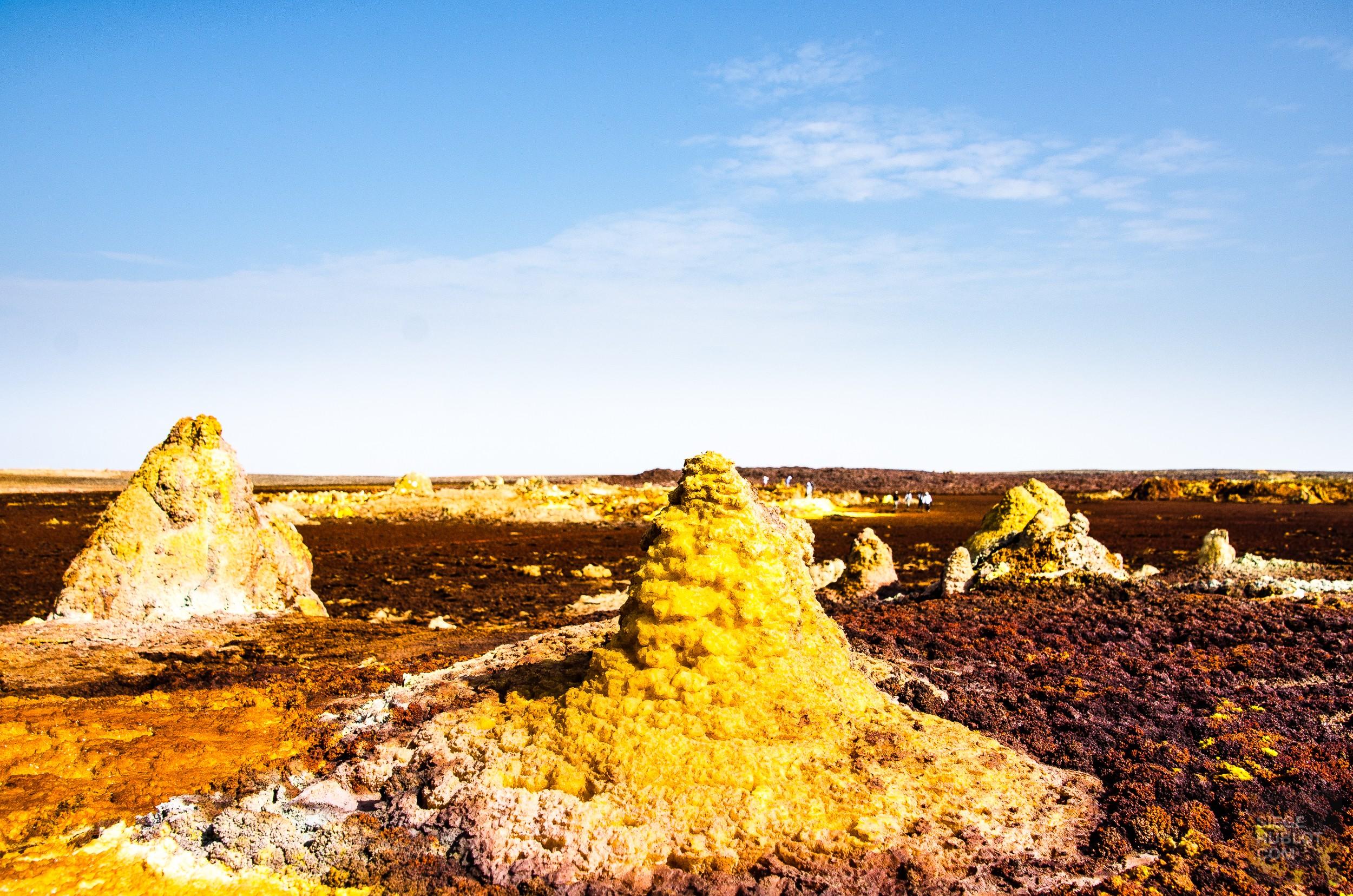 pinnacle mineraux - Dallol - Visiter une autre planete: Danakil, Ethiopie - afrique, ethiopie