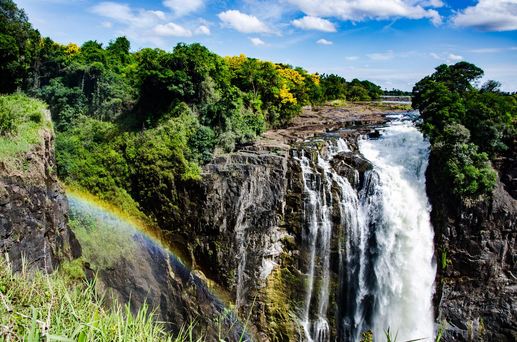 chute arc-en-ciel - les chutes victoria - Zimbabwe, les chutes Victoria et plus encore! - afrique, zimbabwe