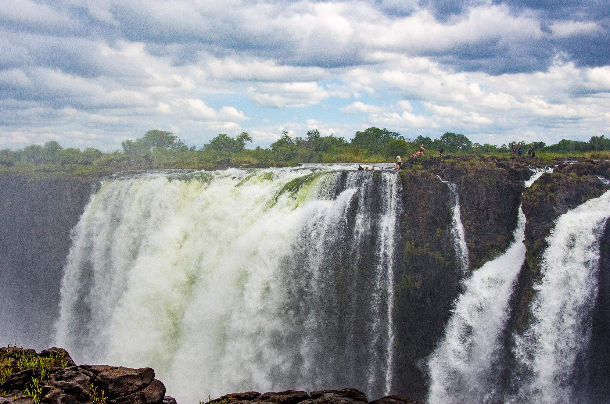 devils pool - les chutes victoria - Zimbabwe, les chutes Victoria et plus encore! - afrique, zimbabwe