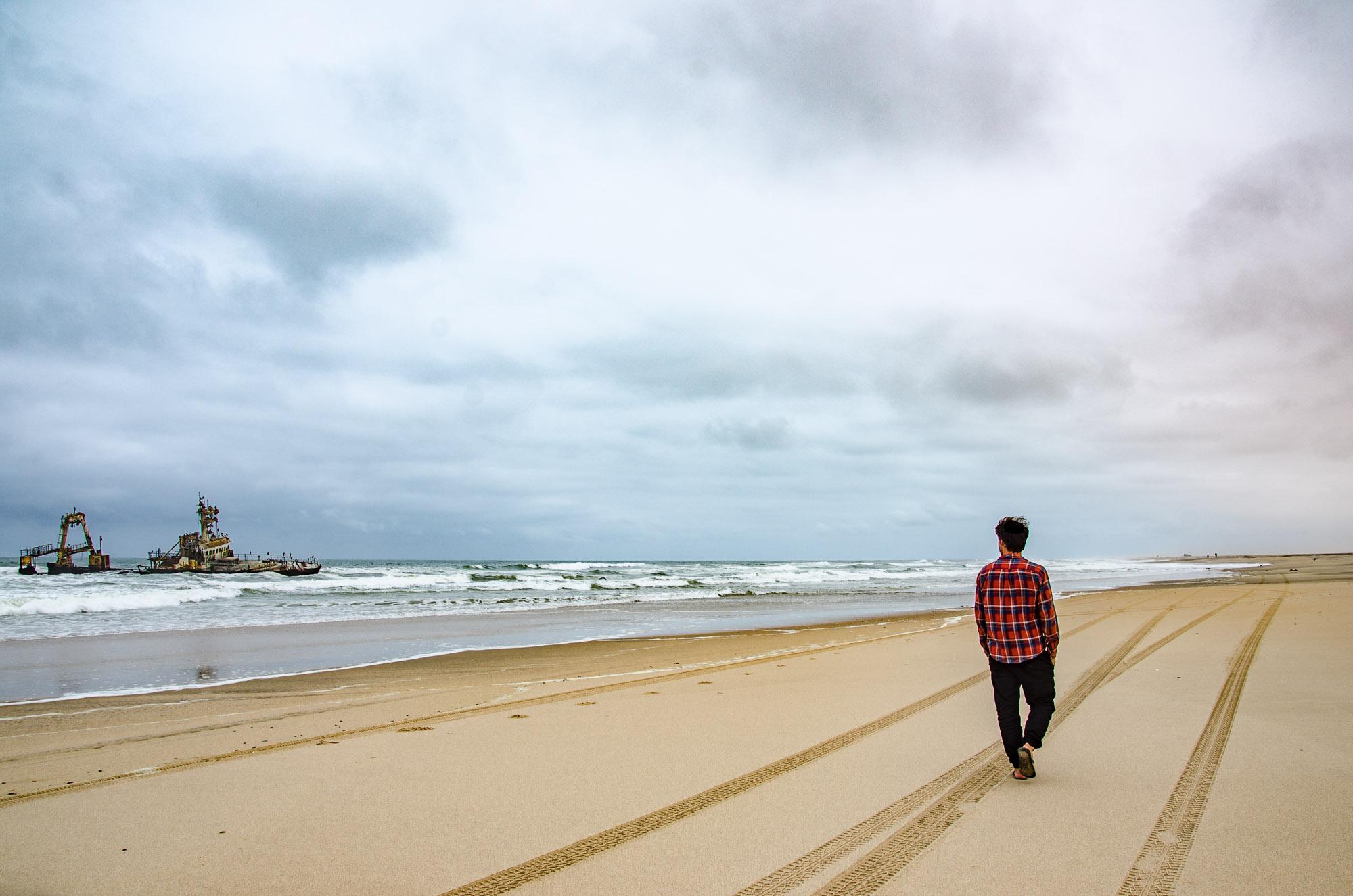 epave marche plage - swakopmund - le desert du namibie - afrique, namibie