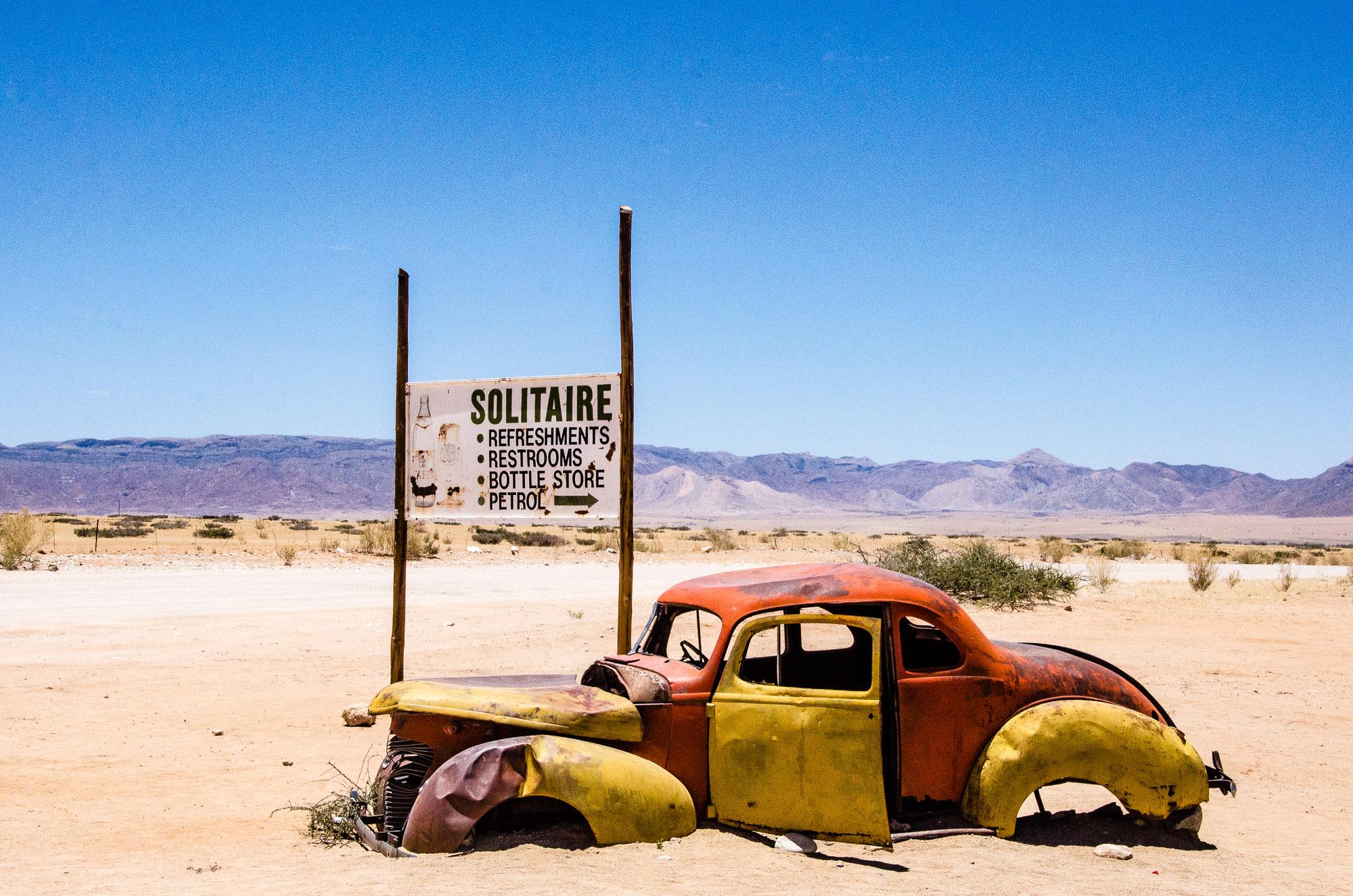 solitaire automobile ferraille cimetiere - swakopmund - le desert du namibie - afrique, namibie