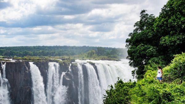 vue fabuleuse - les chutes victoria - Zimbabwe, les chutes Victoria et plus encore! - afrique, zimbabwe