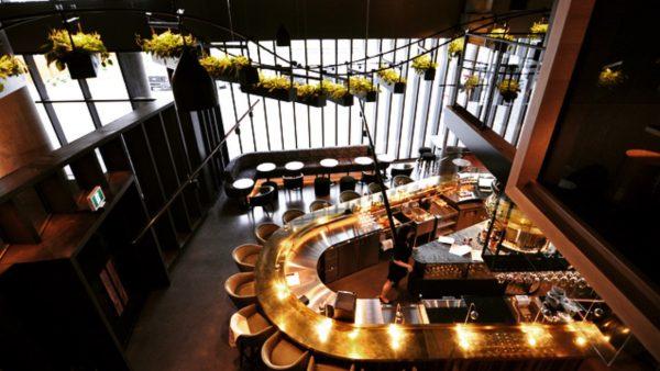 De la mezzanine, vue sur le Bar Les Cousins, vintage et contemporain - Tous les petits plus du Alt+ - Amérique du Nord, Canada, Québec, Montréal